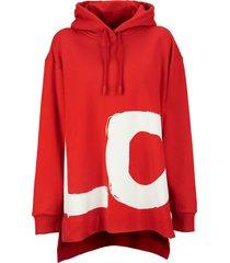 burberry aurore - love print cotton oversized hoodie