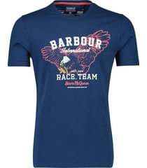 barbour t-shirt heren donkerblauw geprint