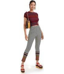 calça legging estampada est localizado barrado listras