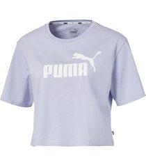 camiseta ess cropped logo tee w puma mujer 852594 90 rosa