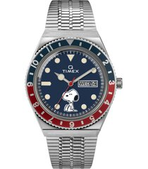 men's timex x peanuts snoopy bracelet watch, 38mm