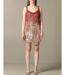 blumarine dress blumarine dress with sequins and corals