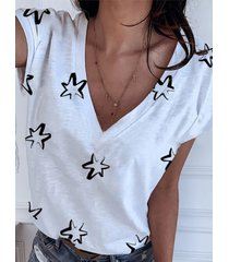 camiseta de manga corta con cuello en v star