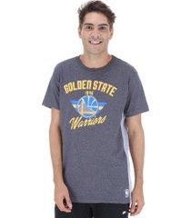 camiseta nba golden state warriors side cut - masculina - cinza esc/cinza