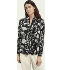 scotch & soda button-down printed shirt