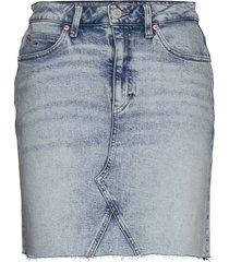 short denim skirt cnlbcf kort kjol blå tommy jeans