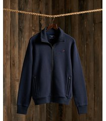 superdry m2010373a classic track top vest adq rich navy -
