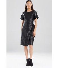 natori faux leather apron dress, women's, size 2