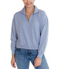 rebellious one juniors' quarter-zip sweatshirt