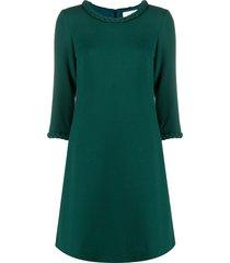 goat erin braided-neck shift dress - green