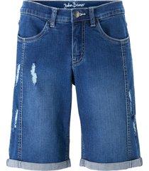 bermuda comfort in jeans elasticizzato (blu) - john baner jeanswear
