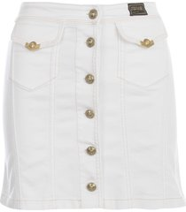 versace jeans couture mini skirt w/gold buttons