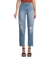 joe's jeans women's distressed boyfriend jeans - blue - size 32 (10-12)