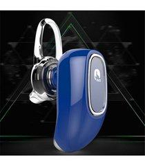 audífonos bluetooth, ff beats estereo hd deportivos luciérnaga diseño ocultado auriculares en el oído audifonos manos libres inalámbrico voz recordatorio para sony iphone samsung (azul)