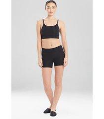 natori bliss flex shorts, women's, 100% cotton, size l