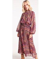 szyfonowa sukienka w zygzaki della arabian spice