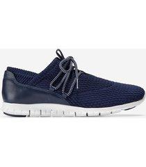 calzado mujer azul zerogrand quilted sneaker cole haan