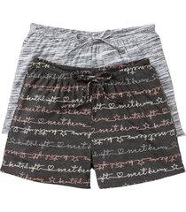 pantaloni pigiama corti (pacco da 2) (grigio) - bpc bonprix collection