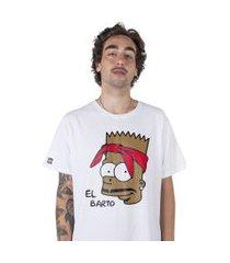 camiseta   stoned el barto branca