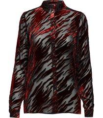 flame-sh blouse lange mouwen rood storm & marie