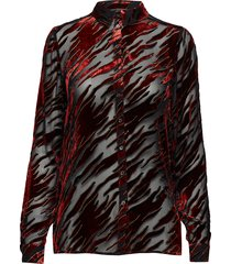 flame-sh blouse lange mouwen rood storm & marie