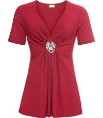 maglia con spilla asportabile (rosso) - bodyflirt