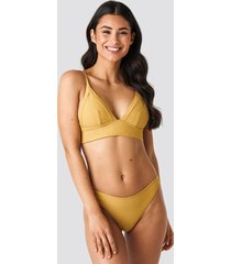 na-kd swimwear high cut bikini panty - yellow