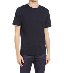 men's reiss walter crewneck t-shirt, size small - blue