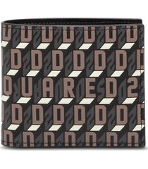 dsquared2 bifold leather wallet with logo