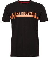 alpha industries t t-shirts short-sleeved svart alpha industries