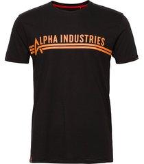 alpha industries t t-shirts short-sleeved svart alpha industries