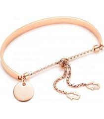 bransoletka różowe złoto balance hands love charm