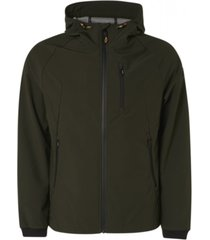 jacket mid long hooded stretch