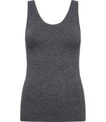 decoy top w/wide straps t-shirts & tops sleeveless grå decoy