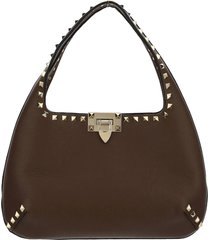 borsa donna a mano shopping in pelle hobo rockstud small