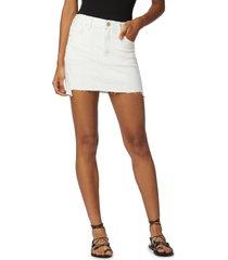 women's hudson jeans the viper denim skirt, size 31 - white