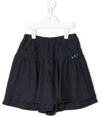 familiar bow-detail shorts - blue