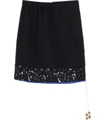 n.21 mini skirt with lace