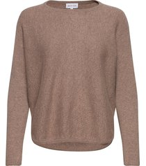 curved sweater gebreide trui bruin davida cashmere