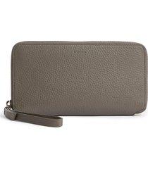 allsaints fetch leather phone wristlet -