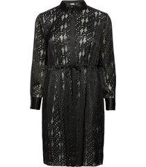 206w1302 dresses shirt dresses svart karl lagerfeld