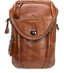 borsa multifunzionale del sacchetto di vita del sacchetto di vibrazione del sacchetto di vibrazione del cuoio genuino per gli uomini