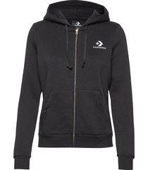 star chevron emb fz hoodie hoodie trui zwart converse