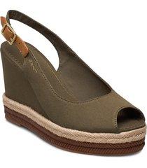 ivalice wedge sandal sandalette med klack espadrilles grön gant