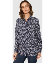blouse paola marine::wit::lichtblauw