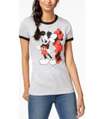 hybrid juniors' mickey & minnie graphic-print t-shirt