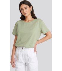 na-kd basic basic oversize t-shirt - green