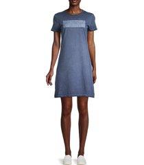 calvin klein jeans women's graphic logo mini t-shirt dress - black - size m
