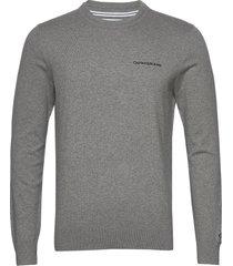 essential crew neck sweater gebreide trui met ronde kraag grijs calvin klein jeans