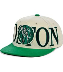 mitchell & ness boston celtics hardwood classic winners circle snapback cap